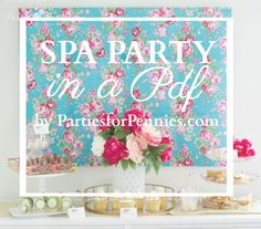 How to Throw a Spa Party by PartiesforPennies.com | TONS of ideas for food, favors, activities & download Spa Mask Invitation!