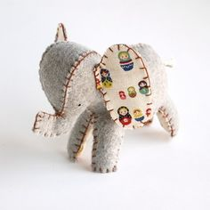 Elephant Stuffed Toy by tinywarbler on Etsy