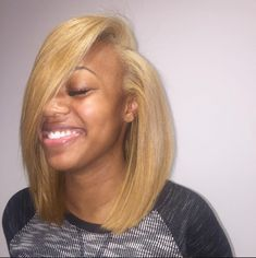 to Achieve the Look for Less! Quick weave install by weave install by Pressed Natural Hair, Dyed Natural Hair, Dyed Hair, Natural Hair Styles, Short Hair Styles, Human Hair Color, Honey Blonde Hair, Wig Hairstyles, Black Hairstyles