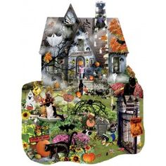 Artist: Lori Schory If you can brave your way through the obstacle course of scares and terrors, then you might just get the tastiest treat around this Halloween... but keep an eye out for any tricks! Going above and beyond the normal rectangular, straight-edge jigsaw format, SunsOut produces quite a few jigsaws in complicated shapes unique to the puzzle and the puzzle theme. These are not just creative ways to shape jigsaw puzzles, but designs that work with and accentuate the image…