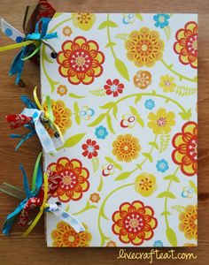 a fun journal made out of cereal boxes. tutorial