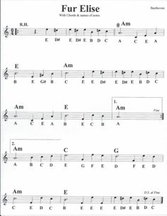 42 Beginner Fur Elise Sheet Music with Letters Beginner Violin Sheet Music, Fur Elise Sheet Music, Easy Violin Sheet Music, Keyboard Sheet Music, Piano Sheet Music Letters, Saxophone Sheet Music, Sheet Music Pdf, Cello Music, Music Chords