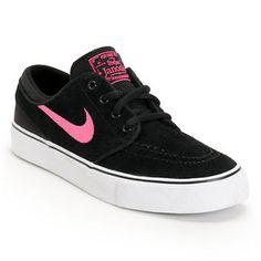 Nike SB Stefan Janoski GS Black & Pink Foil Boys Skate Shoe - NIKE - InStores