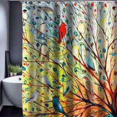 Plant Design Customized Shower Curtain Waterproof Fabric 150x180cm With 12 Hooks Bath Curtains-in Shower Curtains from Home, Kitchen & Garden on Aliexpress.com | Alibaba Group