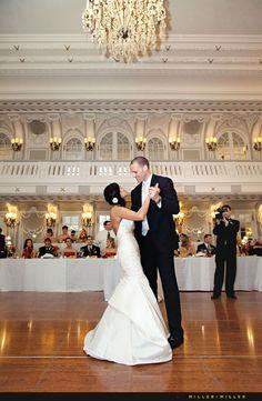 Super Glam Chicago wedding at The Blackstone, A Renaissance Hotel | Miller + Miller Wedding Photography