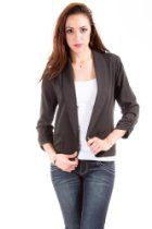 Eye Shadow Casual Lined Blazer in Cool Black From Eyeshadow Price:$16.00