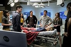 Tom Cavanagh, David Harewood, Danielle Panabaker, Melissa Benoist, Grant Gustin, Candice Patton, Carlos Valdes, and Chris Wood in The Flash (2014)