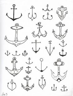 anchors, ink