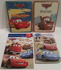 Disney Pixar Cars Books Mixed Lot Of 4 Board Paperback Lightning McQueen Mater