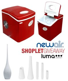 Shoplet.com is giving away a humidifier and icemaker. Here's how to win: Follow Shoplet on Pinterest, repin this post, go to the Shoplet Blog before 1/10/12 and tell us which one you want and why. #giveaways