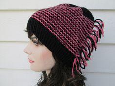 Handmade Hats Striped hats Ribbed Brim knitted Hats knit beanie ski snowboarding crochet hat beanies crochet hats crochet beanie womens hats