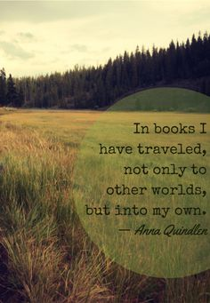 Anna Quindlen on reading.