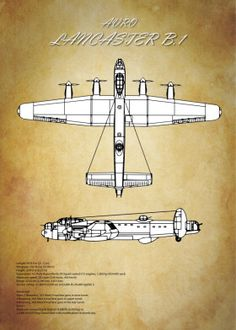 Aircraft Tech Planes poster prints by Airpower Art Ww2 Aircraft, Military Aircraft, Back Tattoo, Plane Tattoo, Lancaster Bomber, Ww2 Planes, Poster Making, Specs, Blue Prints