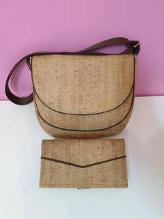 Portefeuille Complice en liège coordonné au sac Musette de Gwendoline - Patrons sac et portefeuille de chez Sacôtin