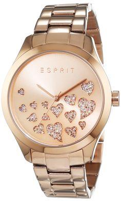 Esprit Esmee ES107282006 - Wristwatch da Women, Watchband in Stainless Steel color oro rosa