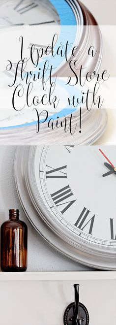 Update a dated clock with acrylic paint - it's quick and easy and you'll have an shimmery modern clock.