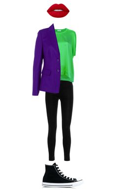 """""""Joker Costume"""" by blanquis-m on Polyvore featuring art and plus size clothing"""