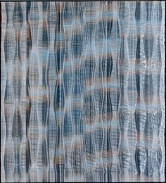 """Time & Material: Gail Martin Gallery at 40 by Lois Martin. Polly Barton """"Clapping Waters"""" 2011 42"""" X 38 ¼"""" Silk and Metallic Warp; Warp and Weft Silk Ikat. Photo courtesy Gail Martin Gallery"""