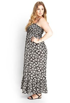 Smocked Floral Maxi Dress | FOREVER21 #F21Plus
