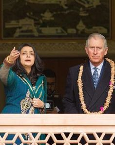 Royal Family Around the World: Prince Charles Visit Jain Temple in Potters Bar on January 22, 2015 in Hertfordshire, England