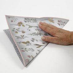 13969 A rectangular Paper Diamond made from Vivi Gade Design Paper Vellum Paper, Diy Paper, Paper Art, Paper Diamond, Origami Design, Design Seeds, One Design, Craft Items, Wooden Beads