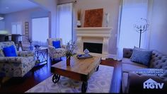 Sample LR layout with smaller rug and cool coffee table