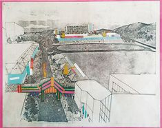 Deborah Sussman's exploration of how graphics could be applied to stadiums for the 1984 olympics in LA.
