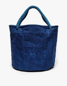 The color on this bag!! Canvas Sailor Bag in Indigo