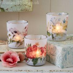 Glass tea lights                                                                                                                                                                                 More