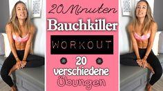 Bauchworkout ♥ Bauchmuskeltraining mit 20 unterschiedlichen Übungen ♥ Ef...