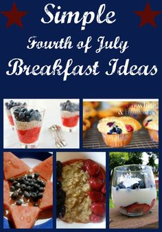 I'm getting my red, white and blue on at the breakfast table this year! Great list of SIMPLE ideas!