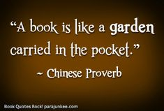 A Book is like a Garden Carried in Your Pocket - spring bulletin board for the library with colorful flowers and a fence