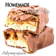 Homemade Snickers. May be useful as much as hubby loves them... http://www.  bestyummyrecipes. com /homemade-snickers-bars-recipe/