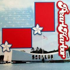 Pearl Harbor Scrapbook Page Kit