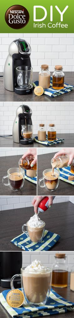 The classic coffee drink taken to new heights with the flavors of Baileys Original Irish Cream and a touch of your favorite whiskey. It's as easy as brew your Dolce Gusto, add your seasonal spirits, and cheers with your girlfriend! Who's shaking up this Irish cocktail treat?