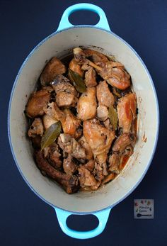 Chicken slowly braised in vinegar, soy sauce, garlic and bay leaves until fall-off-the-bone tender and DELICIOUS. It tastes even better the next day if there are left-overs! Classic CHICKEN ADOBO #adobo