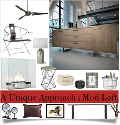"""""""A Unique Approach : Mod Loft"""" by loveartrecyclekardstock on Polyvore"""