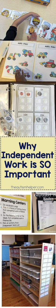 Independent work is important throughout the year, but it is ESPECIALLY important in the start of the year. Today we discuss why it's so important & how it helps you accomplish this months' routines & reinforcer goals! From theautismhelper.com #theautismhelper