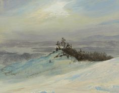 Winter on the Hudson near Catskill New York by Frederic Edwin Church | Art Posters