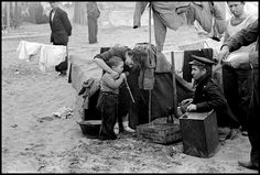 March Woman and child in an internment camp for Spanish refugees. (From the Mexican Suitcase)//Robert Capa Nerja Spain, Magnum Photos, Civilization, Old Photos, Camping, In This Moment, Pictures, Photography, Ian Gibson