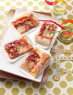 Die Pizza mit dem saftigen Rand.