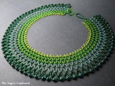 The Sages Cupboard Handmade Egyptian Jewelry and Tribal Beadwork Seed Bead Patterns, Jewelry Patterns, Seed Bead Jewelry, Bead Jewellery, Egyptian Jewelry, Beaded Collar, Handmade Beaded Jewelry, Necklace Designs, Beaded Necklace