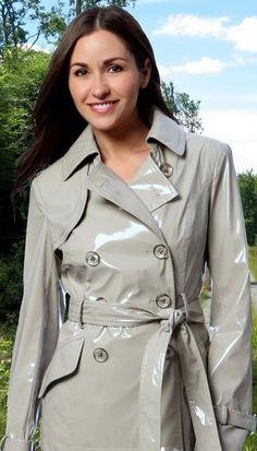 Fashion 2 - Fashion 2 Source by - Trench Coat Outfit, Raincoat Outfit, Pvc Raincoat, Plastic Raincoat, Patent Trench Coats, Rain Fashion, Vinyl Dress, Long Leather Coat, Rain Jacket Women