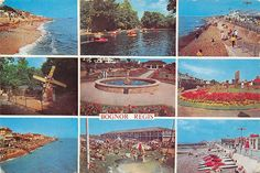 Bognor postcard from early Hotham Park Pets corner Windmil and boating lake. Waterloo gardens, Butlins, Bognor as it was. Model Village, Bognor Regis, Pet Corner, Butlins, Windmill, Boat, Park, Painting, Models