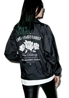 Creep Street Creepy Florist Coaches Jacket