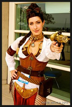 Steampunk Leia, photo by Howie Muzika, via Flickr