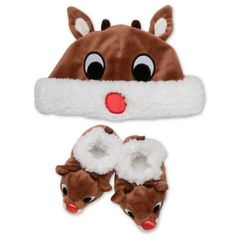 5f149e1ab9b9 These Rudolph Slippers are irresistibly cute. Designed from the beloved  character Rudolph from the classic tale…