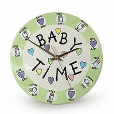Around the Clock Shower Cake | Baby Time Clock