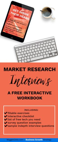 FREE interactive workbook!  Wanna launch a new service, pivot your business or solve a disconnect between your clients + your business? You NEED to conduct market research call with your Dream Clients. Yup, annoying and time-consuming process - but I created a FREE interactive workbook to help you step-by-step. Checklists, questions to ask, and all the tech set-up you'll need to rock those calls and get clearer!