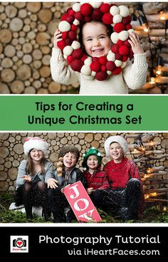 Tips for Creating a Unique Christmas Set for Your Photography Studio - Business Tutorial on I Heart Faces Photography Blog